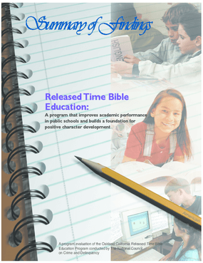 Summary of Findings: Released Time Bible Education