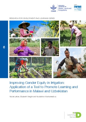 Improving Gender Equity in Irrigation: Application of a Tool to Promote Learning and Performance in Malawi and Uzbekistan