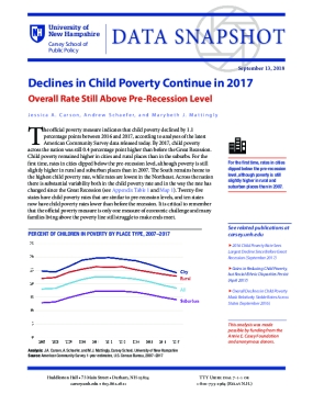 Data Snapshot: Declines in Child Poverty Continue in 2017