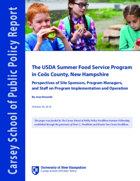 The USDA Summer Food Service Program in Coös County, New Hampshire