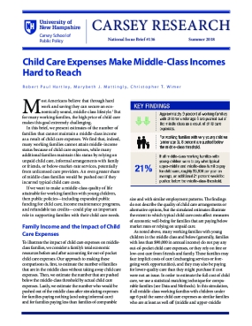 Child Care Expenses Make Middle-Class Incomes Hard to Reach