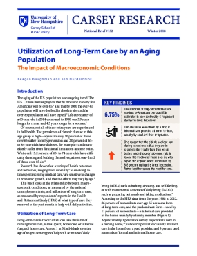 Utilization of Long-Term Care by an Aging Population