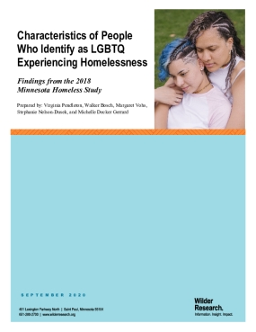 Characteristics of People Who Identify as LGBTQ Experiencing Homelessness: Findings from the 2018 Minnesota Homeless Study