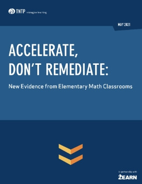 Accelerate, Don't Remediate: New Evidence from Elementary Math Classrooms