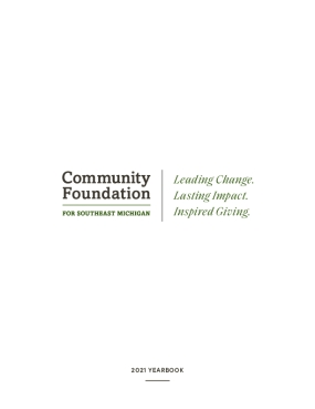The Community Foundation for Southeast Michigan 2021 Yearbook